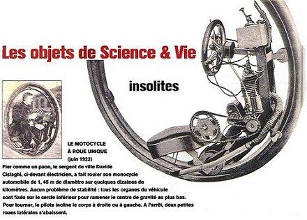 Das Monowheel von Davide Cislaghi, 1923