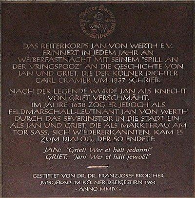 Schild an der Severinstorburg, Köln