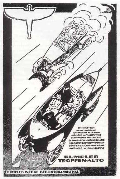 Prospekt der Rumpler-Tropfenwagen