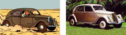 Les autos de Tintin