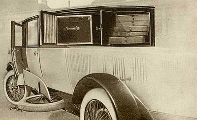 Gepäckabteil des Tropfenwagens
